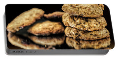 Granola Cookies Portable Battery Charger by Shirley Mangini