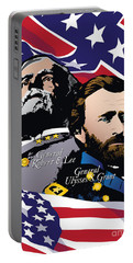 Grant And Lee At Appomattox Portable Battery Charger