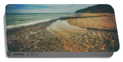Portable Battery Charger featuring the photograph Grant Park - Lake Michigan Beach by Jennifer Rondinelli Reilly - Fine Art Photography