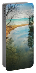 Portable Battery Charger featuring the photograph Grant Park - Lake Michigan Shoreline by Jennifer Rondinelli Reilly - Fine Art Photography