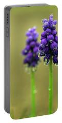 Grape Hyacinth Portable Battery Charger by Joseph Skompski