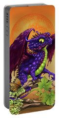 Grape Jelly Dragon Portable Battery Charger by Stanley Morrison