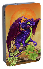 Portable Battery Charger featuring the digital art Grape Jelly Dragon by Stanley Morrison