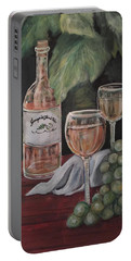 Grape Leaves And Wine Portable Battery Charger