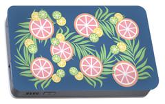 Grapefruit  Portable Battery Charger by Lauren Amelia Hughes