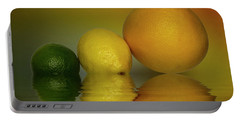Portable Battery Charger featuring the photograph Grapefruit Lemon And Lime Citrus Fruit by David French