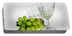 Grapes And Crystal Portable Battery Charger