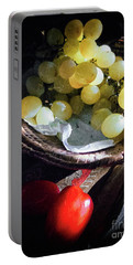 Portable Battery Charger featuring the photograph Grapes And Tomatoes by Silvia Ganora