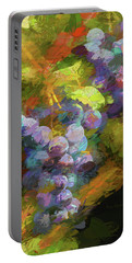 Grapes In Abstract Portable Battery Charger by Penny Lisowski