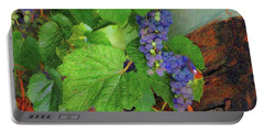 Portable Battery Charger featuring the photograph Grapes by John Kolenberg