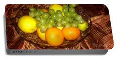 Grapes, Lemons, Mandarins And Lime  Portable Battery Charger