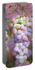 Portable Battery Charger featuring the mixed media Grapes Of Many Colors by Carol Cavalaris