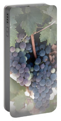 Grapes On The Vine I Portable Battery Charger by Sherry Hallemeier