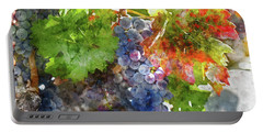 Grapes On The Vine In The Autumn Season Portable Battery Charger