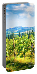 Portable Battery Charger featuring the photograph Grapevine In San Gimignano Tuscany by Silvia Ganora