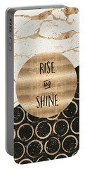 Portable Battery Charger featuring the digital art Graphic Art Rise And Shine by Melanie Viola