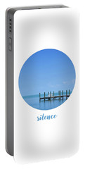 Graphic Art Silence - Oceanview Portable Battery Charger