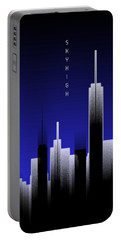 Graphic Art Skyhigh Lights - Blue Portable Battery Charger