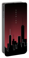 Graphic Art Skyhigh - Red Portable Battery Charger