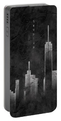 Graphic Art Skyhigh Vintage Look - Black Portable Battery Charger