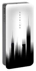 Graphic Art Skyhigh - White Portable Battery Charger