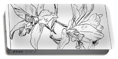 Graphic Orchid Portable Battery Charger