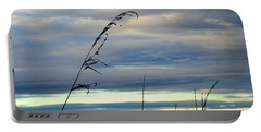 Grass Against Abstract Sky Portable Battery Charger