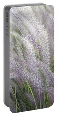 Portable Battery Charger featuring the photograph Grass Is More - Nature In Purple And Green by Ben and Raisa Gertsberg