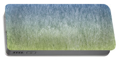 Grass On Blue And Green Portable Battery Charger
