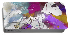 Portable Battery Charger featuring the digital art Grateful To Be by Margie Chapman