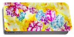 Portable Battery Charger featuring the painting Gratitude Blooms by Monique Faella