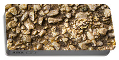 Gravel Stones On A Wall Portable Battery Charger