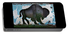 Portable Battery Charger featuring the photograph Gray Buffalo by Larry Campbell