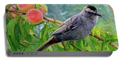 Gray Cat Bird Portable Battery Charger