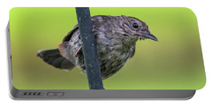 Gray Catbird After The Rain #2 Portable Battery Charger
