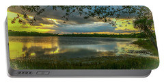 Gray Cloud Sunset Portable Battery Charger by Tom Claud