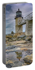 Portable Battery Charger featuring the photograph Gray Day At Marshall Point by Rick Berk