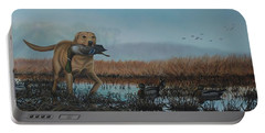 Gray Day Mallards Portable Battery Charger