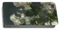 Gray Floral 09 Portable Battery Charger