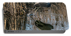 Gray Heron Flew Up Portable Battery Charger