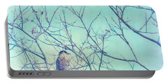 Gray Jay In A Tree Portable Battery Charger