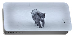 Gray On White Portable Battery Charger