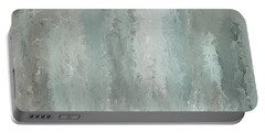 Grayish Blue Abstract Art Portable Battery Charger