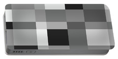 Portable Battery Charger featuring the digital art Grayscale Check by Bruce Stanfield