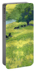 Grazing By The Bear River Portable Battery Charger