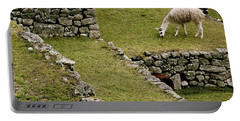 Grazing In Machu Picchu Portable Battery Charger