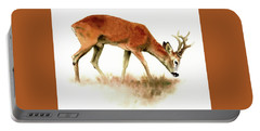 Grazing Roebuck Watercolor Portable Battery Charger