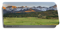 Portable Battery Charger featuring the photograph Grazing Under Sneffels by David Chandler