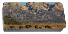 Grazing Under The Tetons Wildlife Art By Kaylyn Franks Portable Battery Charger