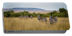 Grazing Zebras Portable Battery Charger
